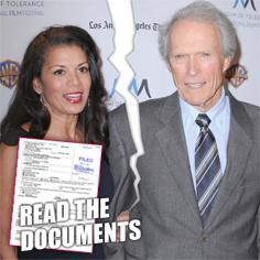 //clint eastwoods wife files for legal separation
