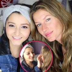 //gisele bundchen visits teen fighting cancer to give makeup tips sq