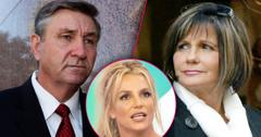 Britney Spears Looks Upset With Split of Mom Lynne and Dad Jamie Spears Conservatorship Court Hearings
