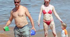 //alan ruck shirtless wife mireille enos bikini hawaii pp