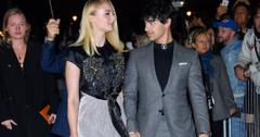 Sophie Turner and Joe Jonas look at each other.