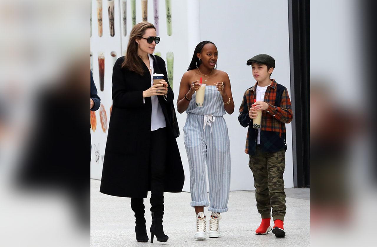Angelina Jolie With Zahara & Knox Amid Brad Pitt Custody Battle Settlement