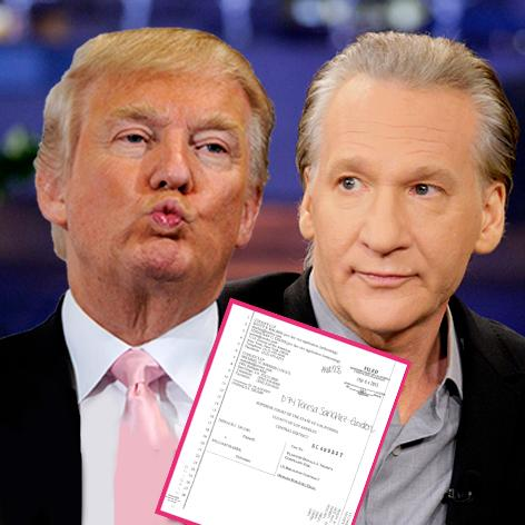 //donald trump sues bill maher getty