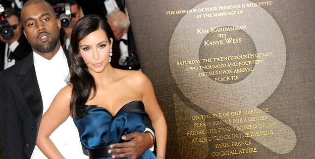 //kim kardashian kanye west wedding invite kimye wide