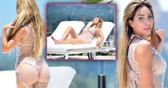 Farrah Abraham Shows Off Bikini Pool Body