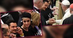 Perry Orlando Bloom Meet Pope