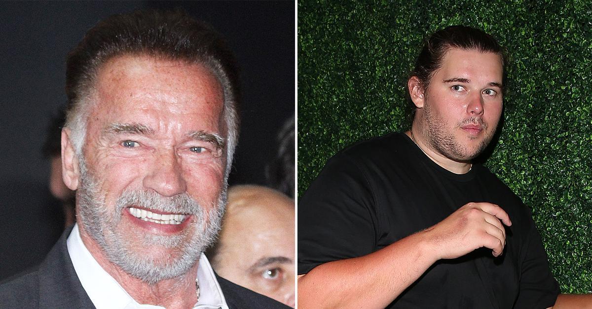arnold schwarzenegger son christopher shirtless la flaunts massive weight loss cutting junk food