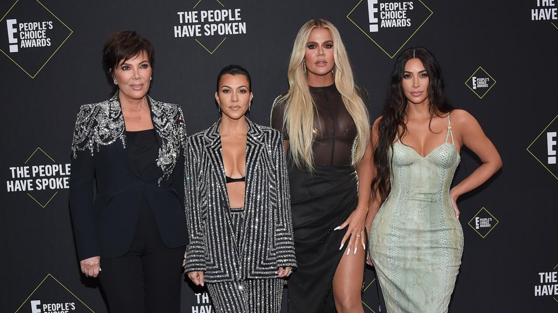 Kim Kardshian, along with Kourtney, Khoe and Mom Kris Jenner on the red carpet
