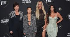 Kim Kardshian, along with Kourtney, Khoe and Mom Kris Jenner on the red carpet