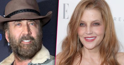 Nicolas Cage and Lisa Marie Presley looking thrilled