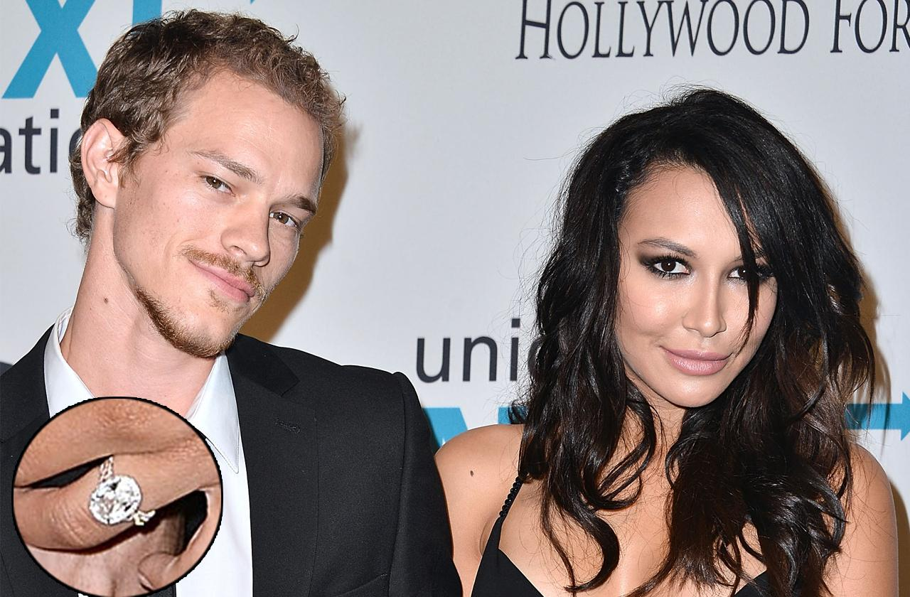 //naya rivera keeps k diamond engagement ring in divorce pp