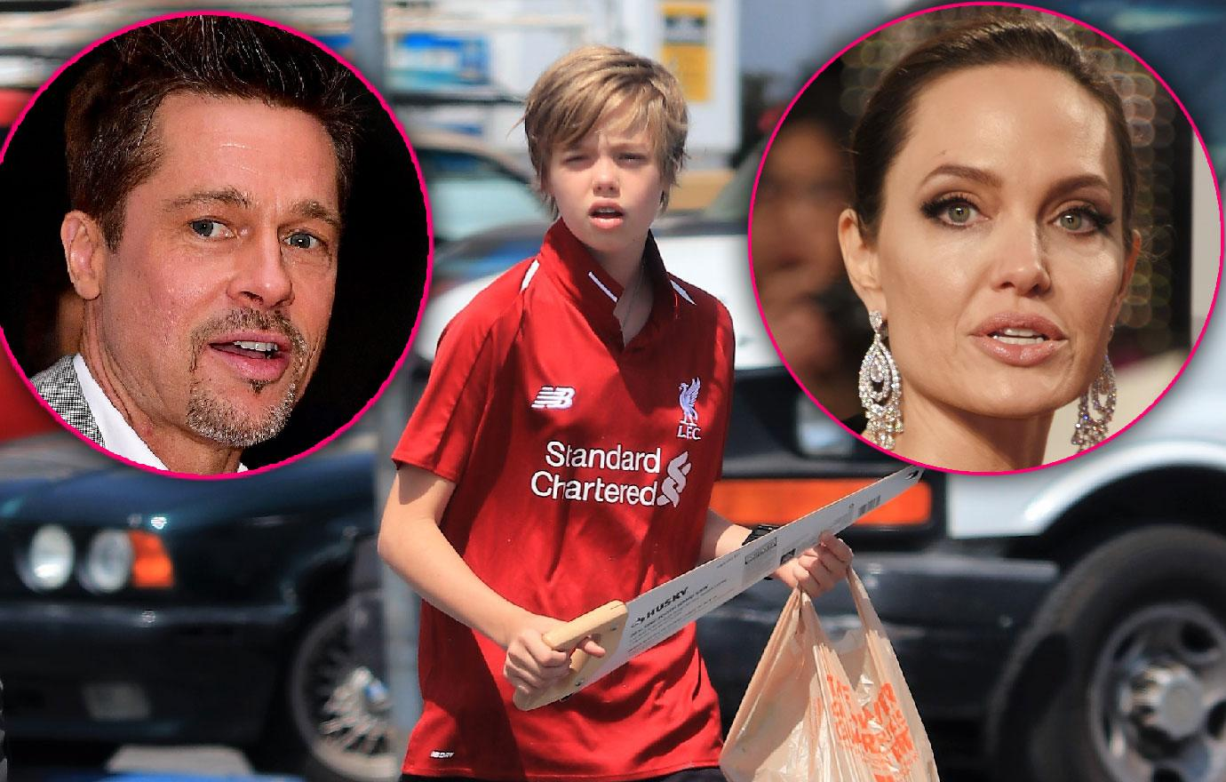 Shiloh Pitt Spotted During Parents Angelina And Brad Divorce