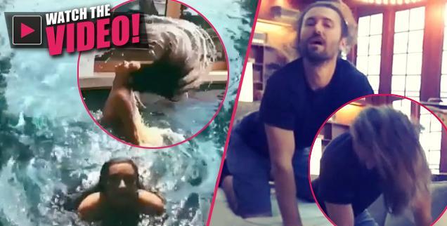 //brandon jenner kim kardashian instagram video flipping hair