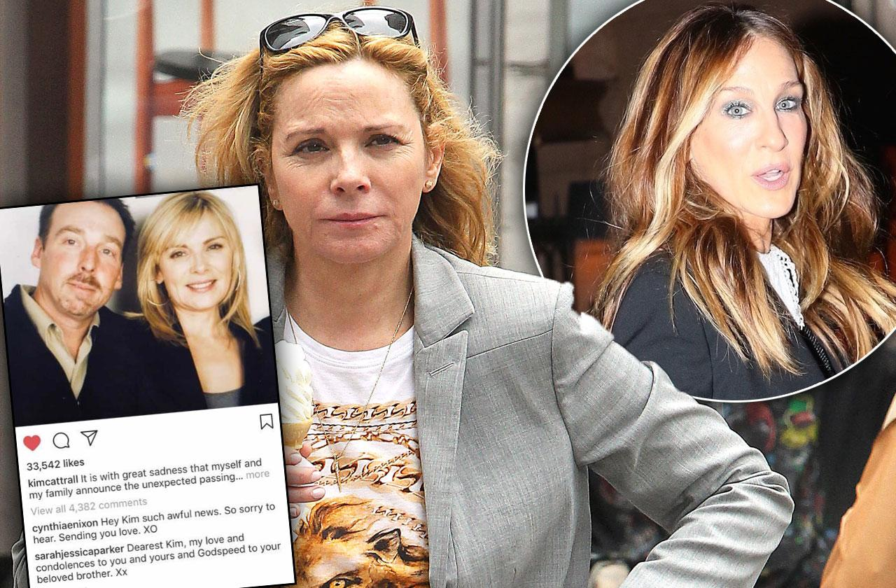 //SJP Reaches Out Kim Cattrall Brother Death pp