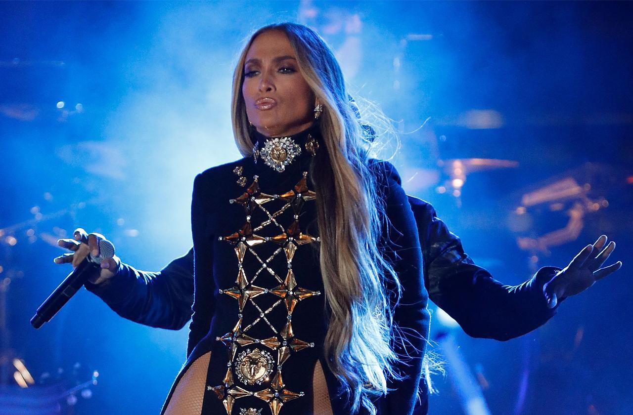 Jennifer Lopez Sexy Slash Dress Blows Up Instagram