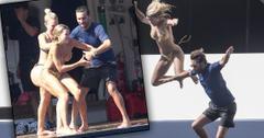 Scott and Sofia having fun in Capri, Italy.
