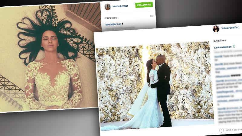 //kendall jenner kim kardashian instagram record pp