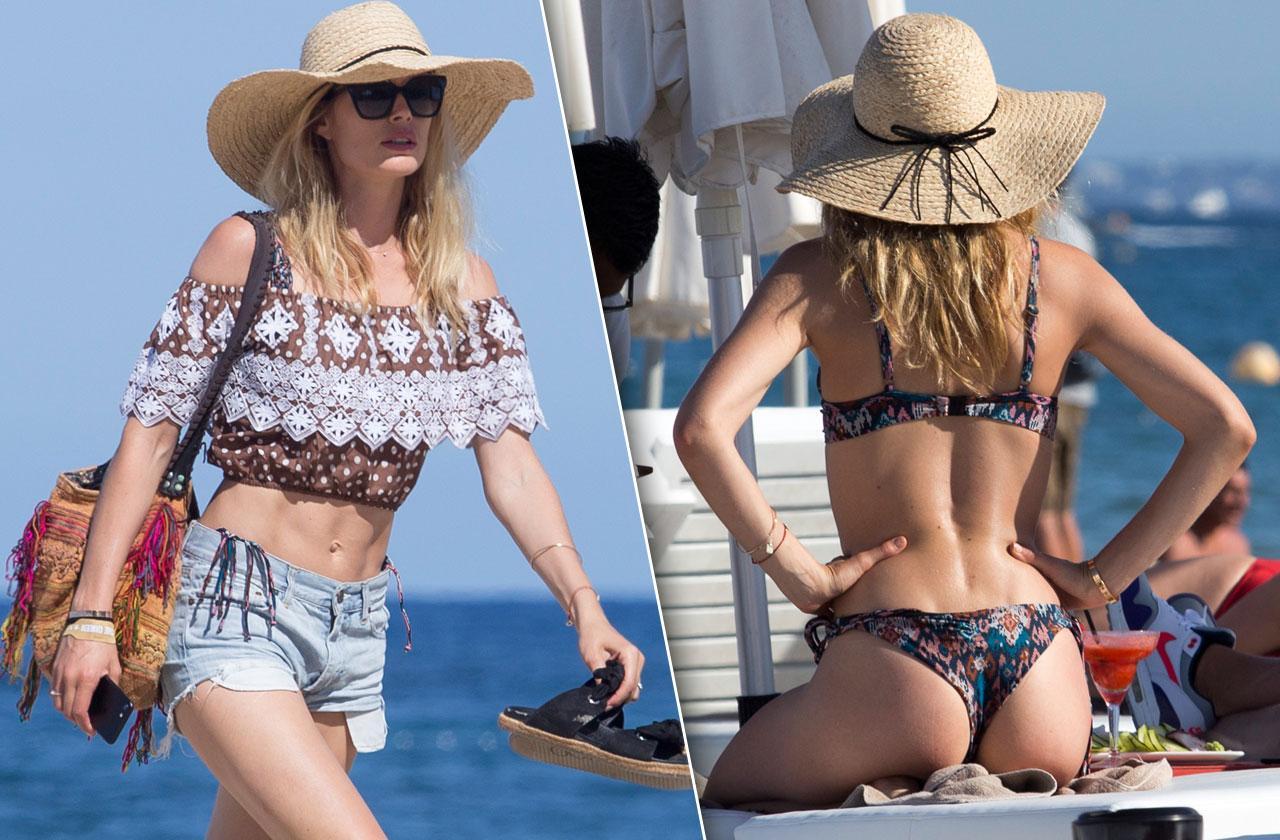 //Doutzen kroes toned abs bikini ibiza beach pp