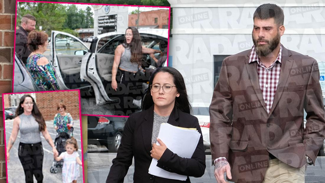 Jenelle Evans Screams At Her Mom & Grabs Ensley Outside Of Court
