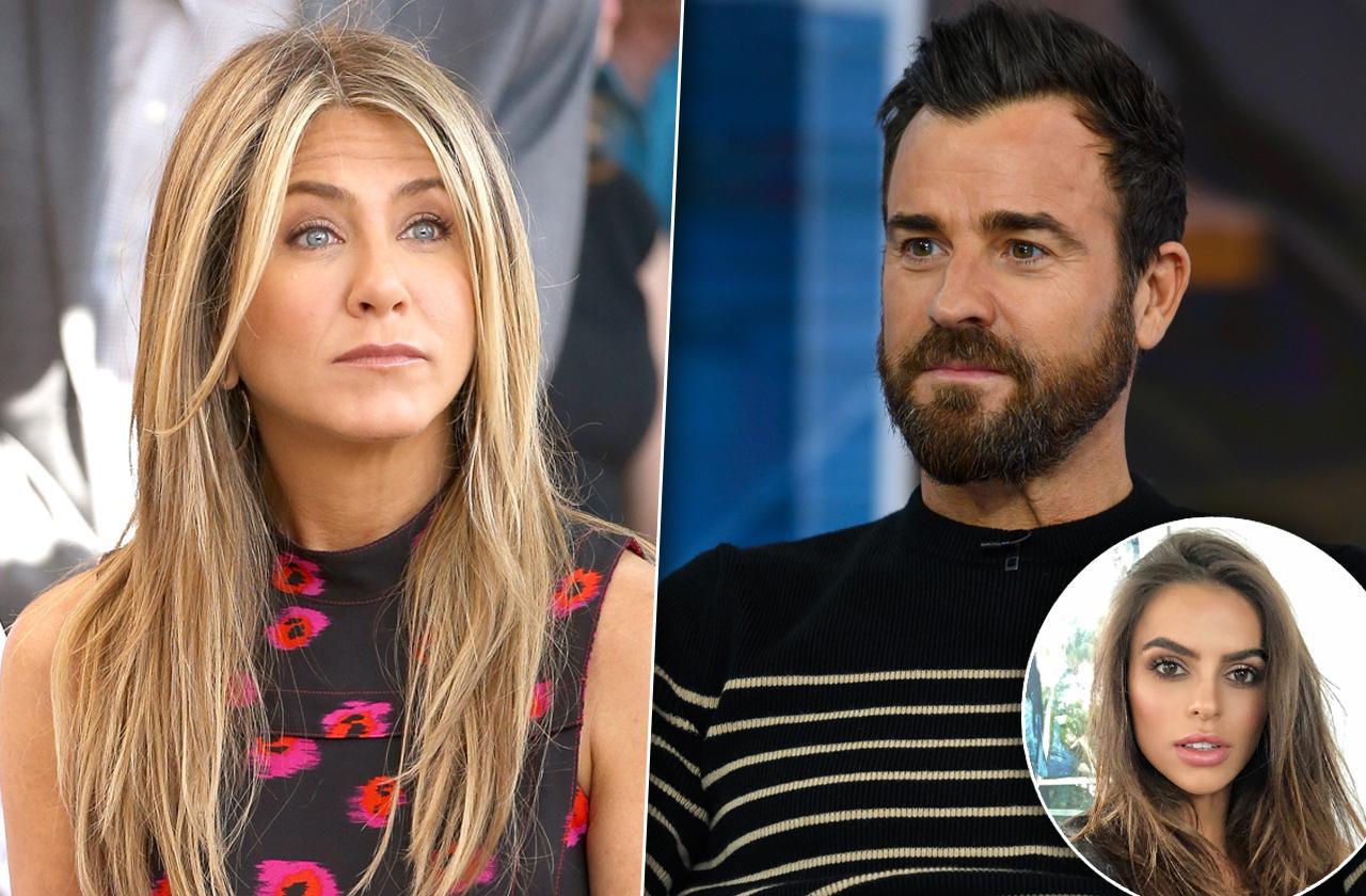 Justin Theroux valentines day model Jennifer Aniston reunion brad Pitt