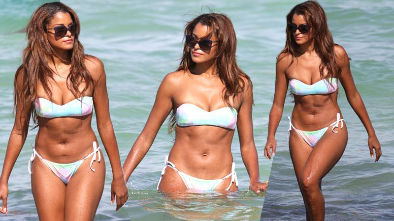 //claudia jordan bikini real housewives atlanta pp