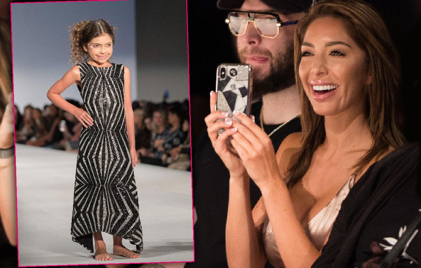 Farrah Abraham Watches Daughter Model At Fashion Show