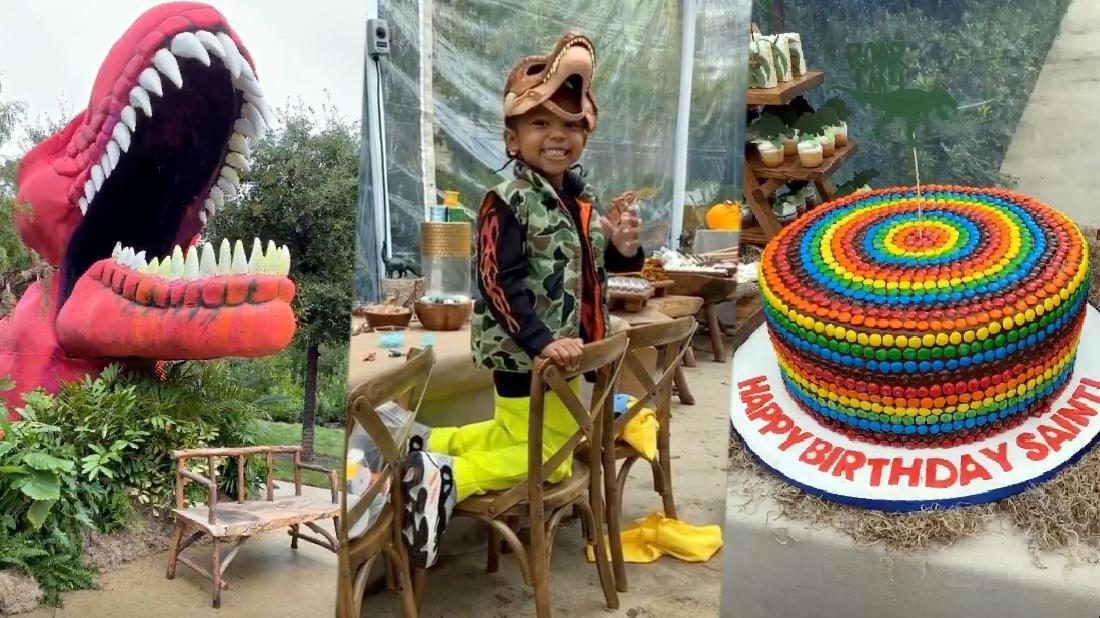 Inside Saint West's Dinosaur-Themed Birthday Party