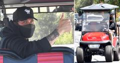 jax taylor drives golf cart to the barber in west hollywood