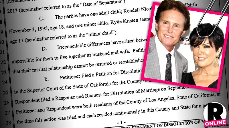 //kris bruce jenner divorce stipulated judgment papers keeping up kardashians pp sl