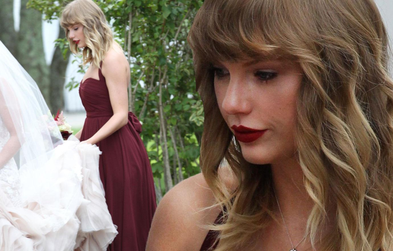Taylor Swift Stuns As Bridesmaid At Best Friend's Wedding