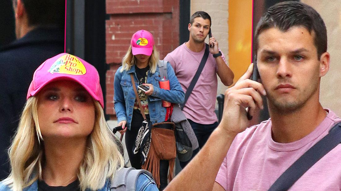 Miranda Lambert & Husband Brendan McLoughlin At NYC Apartment