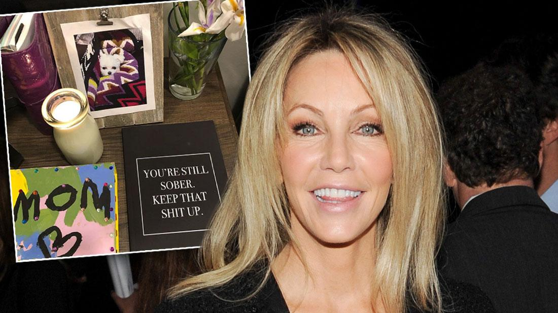 Heather Locklear Claims She's Sober After Checking Into Rehab