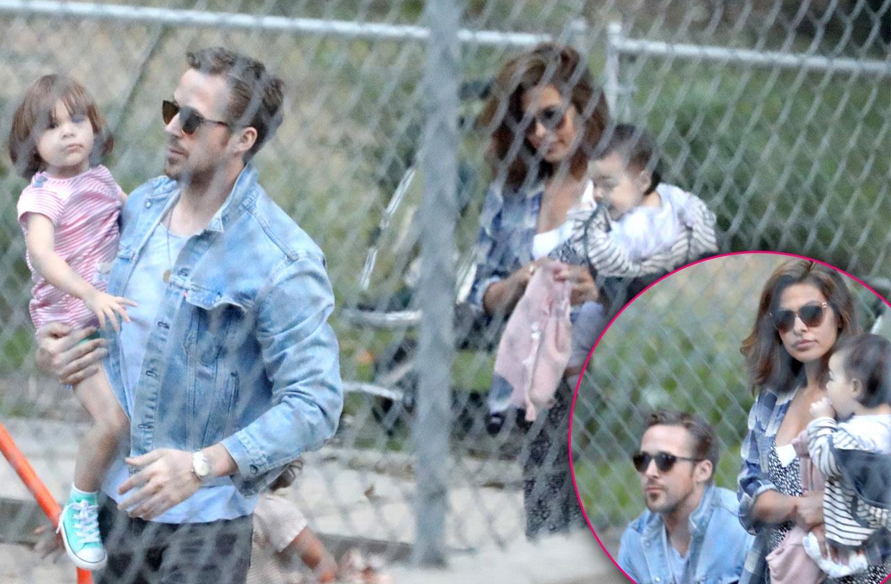 Ryan Gosling Eva Mendes Kids Daughters Park