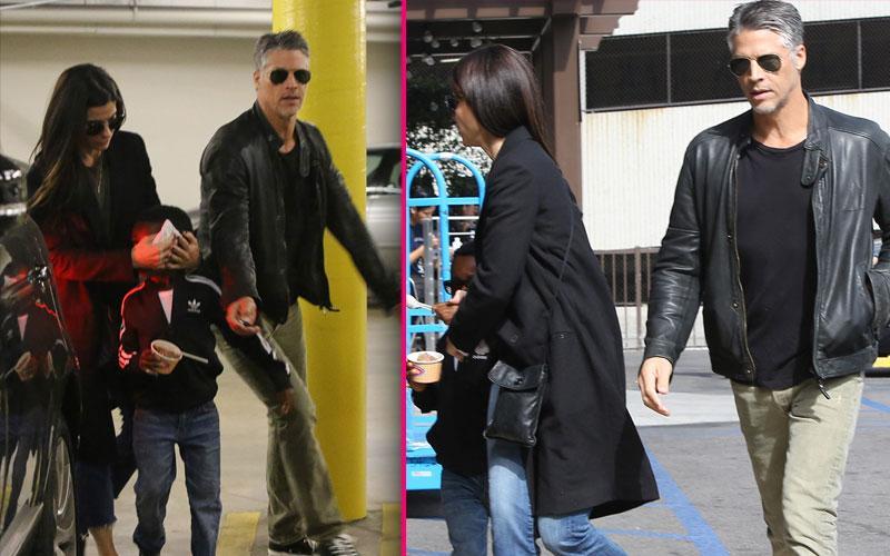 Sandra Bullock & Son Louis With Bryan Randall Photos