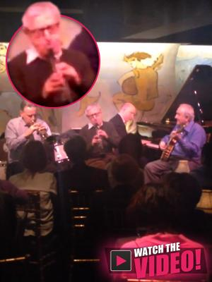 //woody allen jazz clarinet playing tall