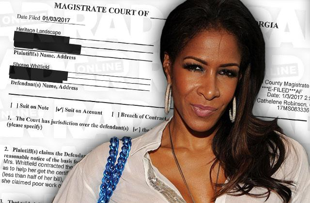 sheree whitfield sued failing pay contractor bill debt rhoa