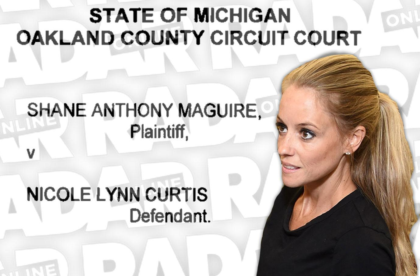 nicole curtis custody battle shane maguire baby harper new agreement