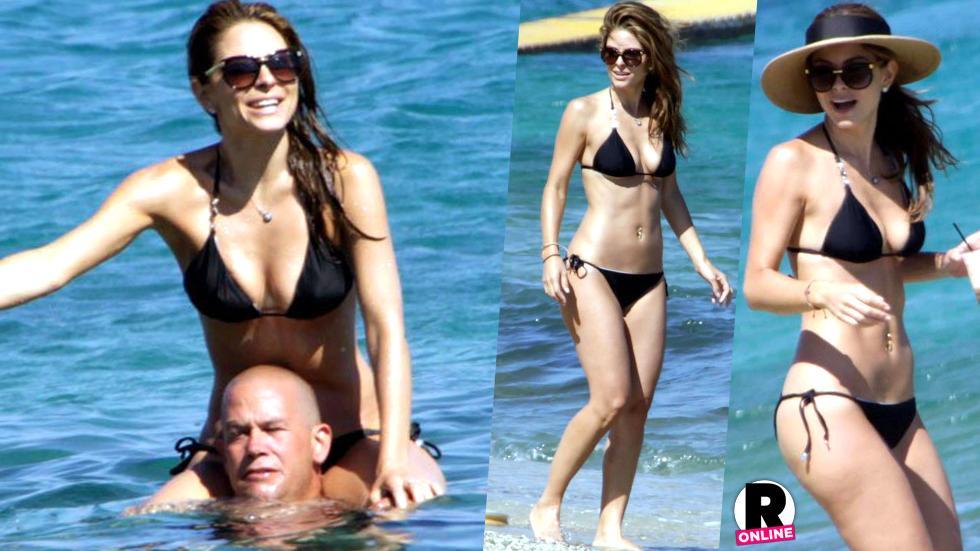 Maria Menounos Wears Bikini In Greece