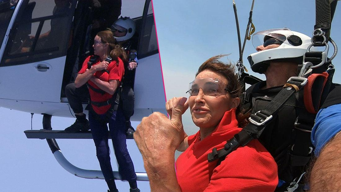 Caitlyn Jenner Goes Skydiving on UK Reality Show