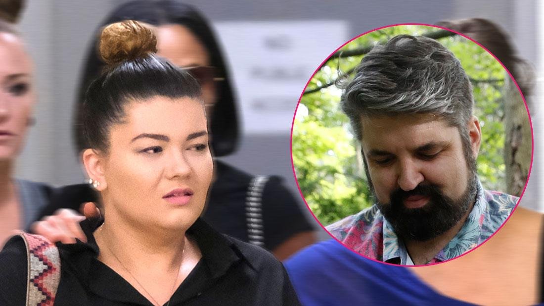 Main, Amber Portwood arrives to court for her domestic assault hearing along with her entire support system. Inset, Andrew Glennon.