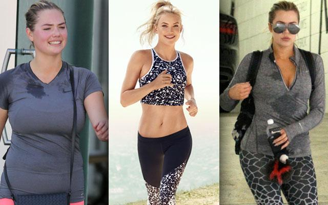 //Celebrity exercise sweat