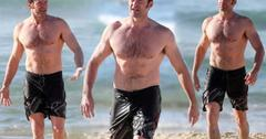 //hugh jackman shirtless bondi beach swimsuit pp