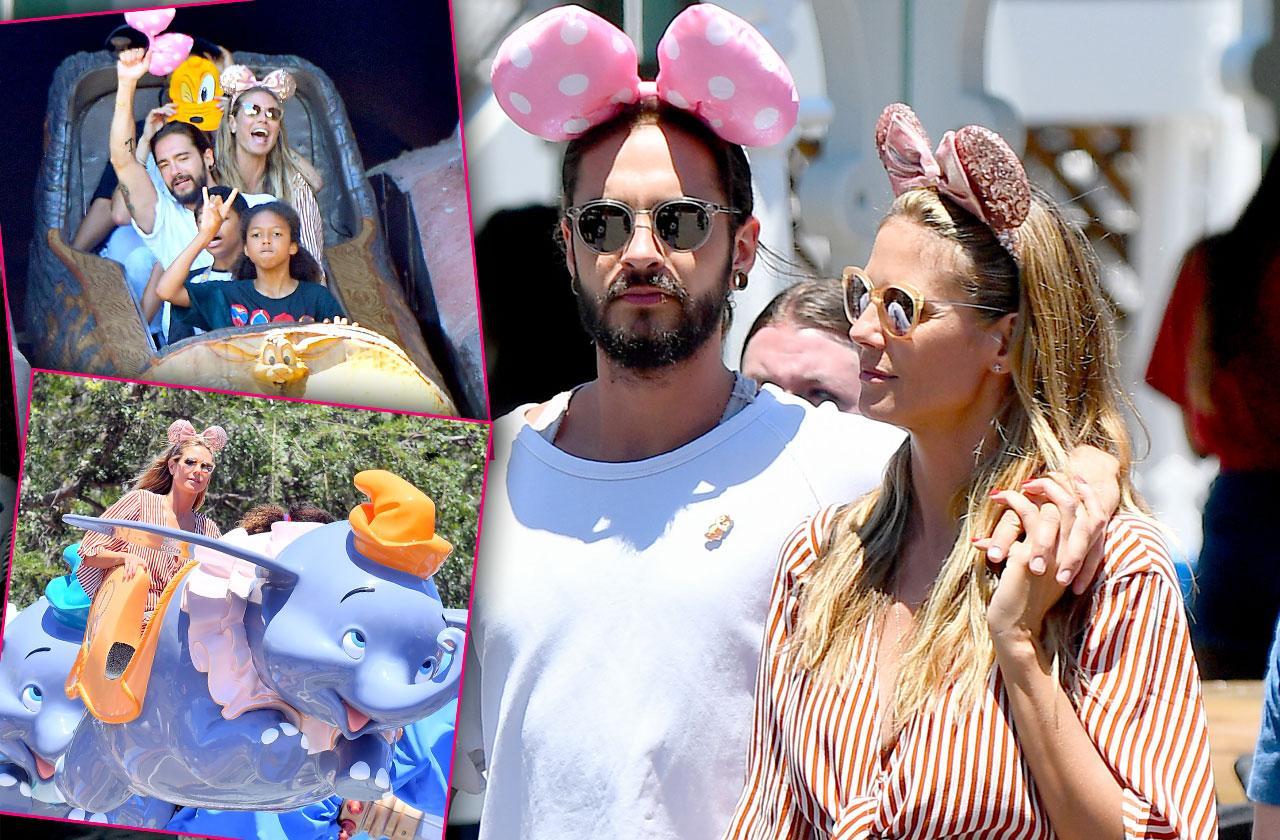 Heidi Klum Boyfriend Tom Kaulitz Disneyland PDA