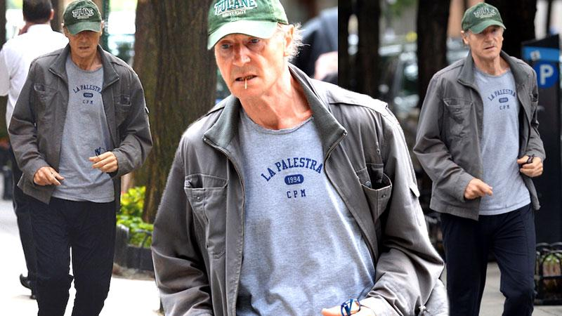 //Liam neeson weight loss skinny jogging nyc pp