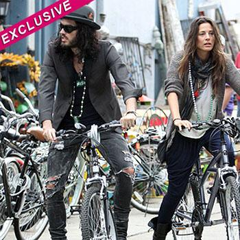 //russell brand fail return rent bikes
