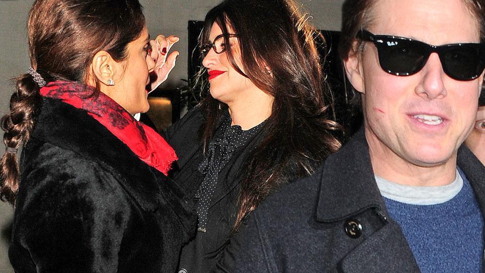 Tom Cruise, Penelope Cruz & Salma Hayek Dine Out