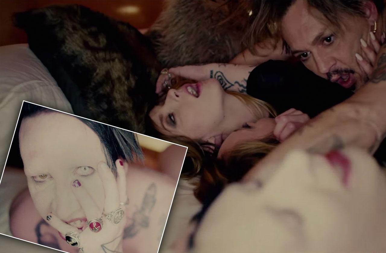 Johnny Depp Marilyn Manson Music Video Orgy