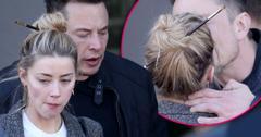 Amber Heard Kisses Elon Musk