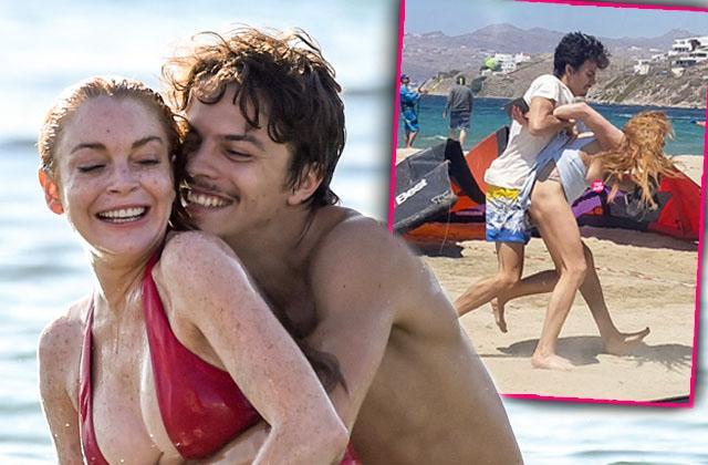 Lindsay Lohan Fiance FIght Beach Split Break Up