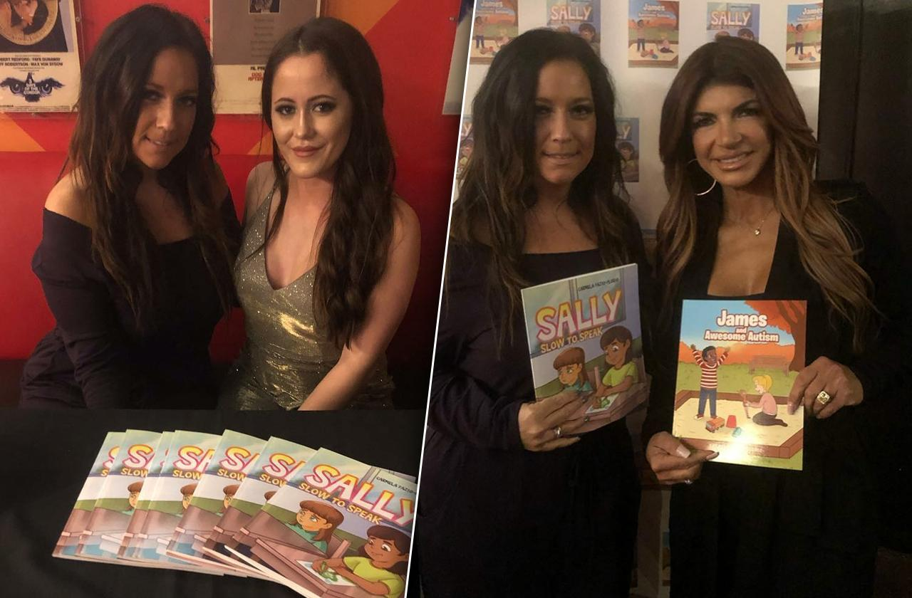 jenelle evans Teresa giudice promote special needs books